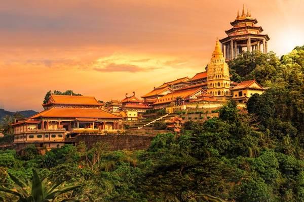 Toàn cảnh chùa Kek Lok Si.