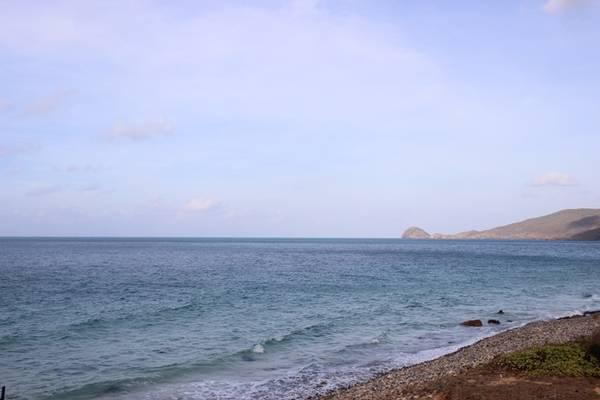Xa xa là mũi Cá Mập, nơi ngắm bình minh tuyệt vời nhất ở xứ đảo này đây. Ngoài ra các bạn có thể thuê thuyền để tham quan hòn Bảy Cạnh, nơi bạn được tận mắt chứng kiến những con rùa biển hay gọi rùa xanh hay vích... làm ổ và đẻ trứng bên bờ biển.  Trong vịnh còn có hòn Tài, hòn Trác, hòn Thỏ... quây quần như một đại gia đình và hòn Bảy Cạnh, Bông Lan, hòn Cau, hòn Trứng, hòn Tre... hùng vĩ giữa khơi xa, là những hòn đảo tạo nên vẻ đẹp thơ mộng cho vịnh Côn Sơn.
