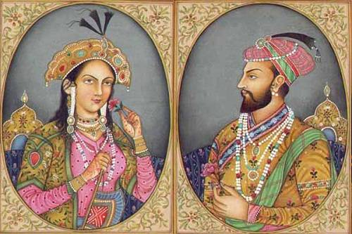 Hoàng đế Shah Jahan và người vợ yêu dấu - Hoàng hậu Mumtaz. Ảnh: Shadetreecafe