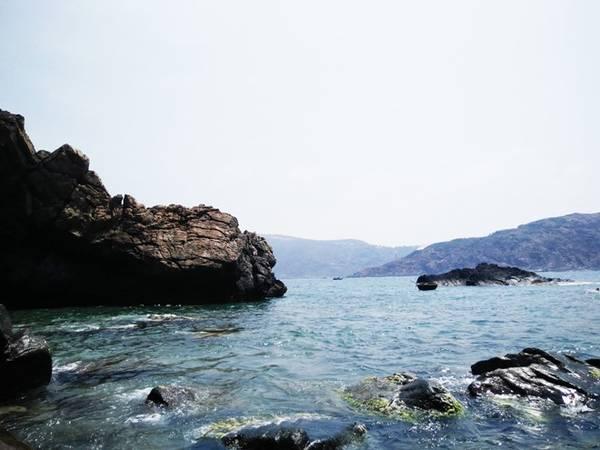 Chúng tôi đi tàu ra Hòn Sẹo với giá vé 50.000/ người. Đây là một nơi hoang sơ, không có người sinh sống, chỉ có cây dại và ghềnh đá. Nước biển xanh trong giúp bạn dễ dàng ngắm nhìn những rạn san hô và tảng đá ngầm bên dưới.