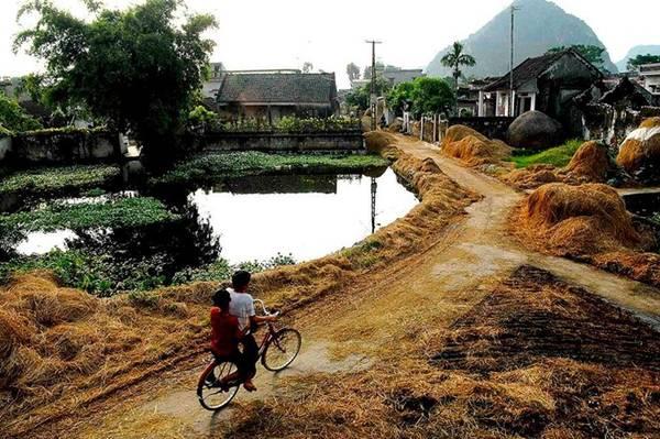 Hơi thở cuộc sống nơi làng quê được thể hiện rõ nét qua từng hoạt động, lao động thường ngày của người dân. Ảnh: Quang Đức.