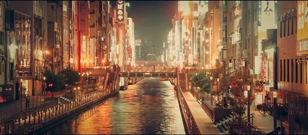 Kyoto rực rỡ lúc về đêm.