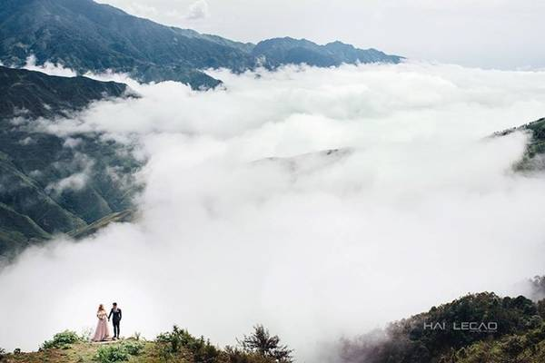 Đỉnh Tà Xùa quanh năm chìm trong biển mây, tạo nên khung cảnh thơ mộng. Đến đây những cặp đôi có thể sở hữu bộ ảnh cưới lãng mạn nhất.
