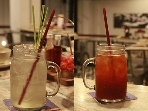 Món Thái thường rất cay và nóng, nên các loại nước mát như trà chanh sả, trà đỏ hạt chia... để giảm nhiệt luôn đứng đầu danh sách thức uống yêu thích của thực khách.