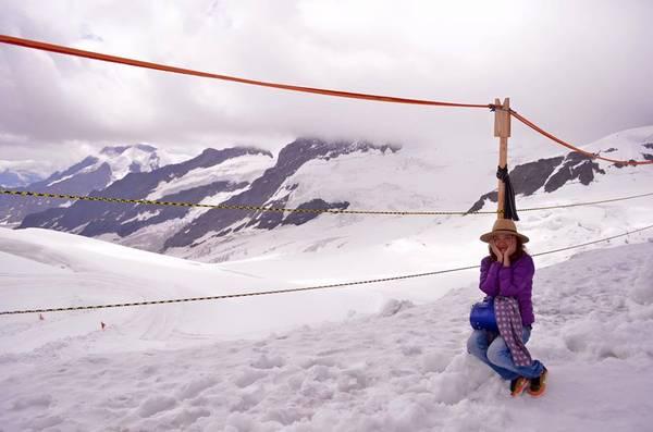 Trên đỉnh Jungfrau.