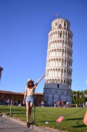 Tháp nghiêng Pisa.
