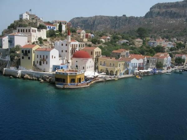 Khu vực bến cảng Mandraki, điểm hút khách ở Kastellorizo - Ảnh: wp