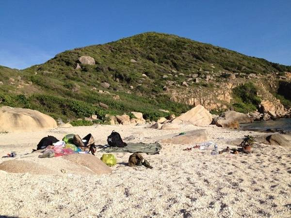 Nơi cắm trại qua đêm của chúng tôi.