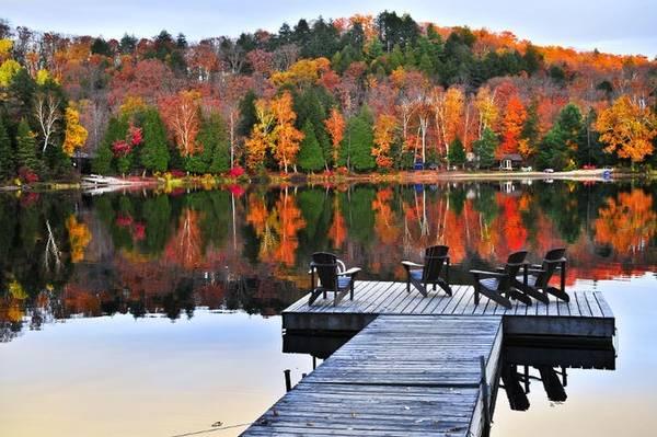 Muskoka, Ontario: khu vực nông thôn của Ontario trở nên đáng yêu trong mùa thu khi lá bắt đầu đổi màu. Cuối tháng Chín đến đầu tháng Mười là thời điểm hoàn hảo để tới khu vực này.
