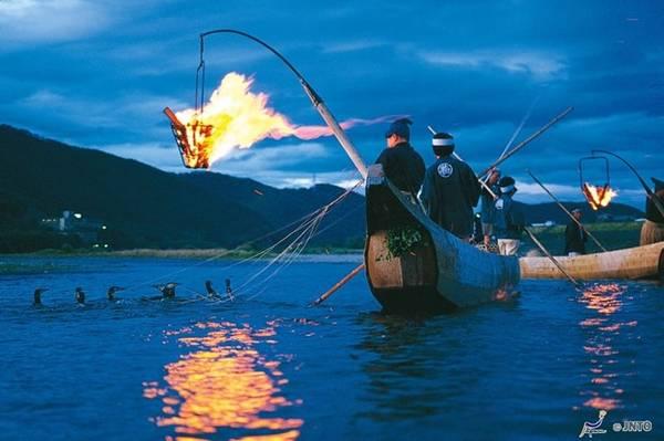 Dòng sông Nagara nổi tiếng tại Nhật Bản.