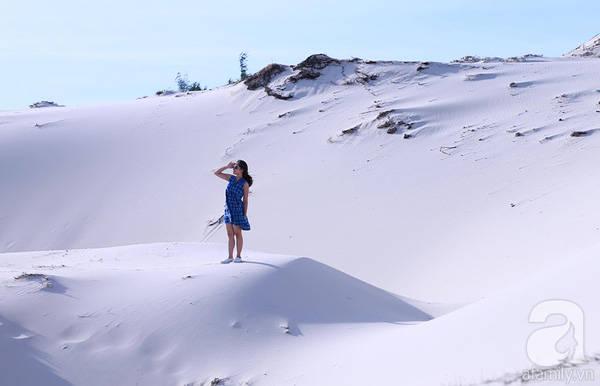 Gió ở Quảng Bình không quá mạnh nên sóng cát không lớn như ở Ninh Thuận.