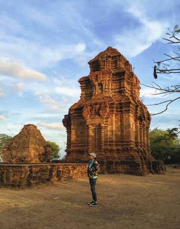 Tháp Chăm ở Phan Thiết.