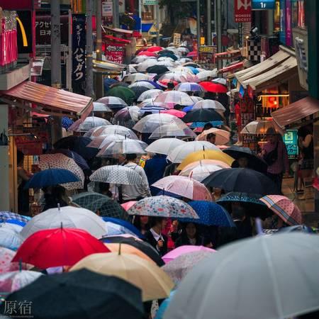 Con phố Takeshita sinh động với các loại ô mỗi khi trời mưa.