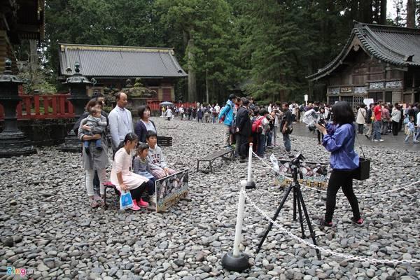 """Hàng năm đền thờ tướng quân Tokugawa - nơi được mệnh danh là """"Di Hòa Viên"""" của Nhật Bản, thu hút hàng trăm ngàn lượt khách du lịch."""