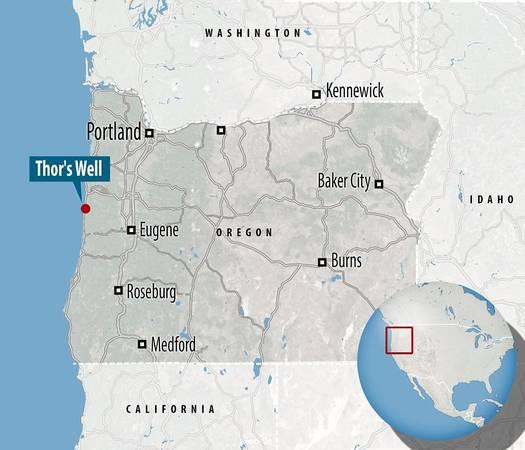 Nơi này thuộc khu vực mũi Perpetua, hạt Lincoln, bang Oregon, Mỹ. Ảnh: Daily Mail.