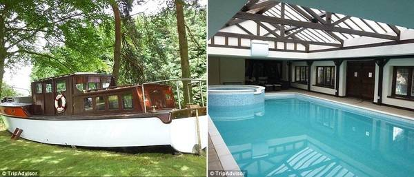 Hag Hill Hall còn có thuyền đồ chơi cho trẻ em trong vườn và một bể bơi nước nóng trong nhà. Giá thuê nơi đây là 685 bảng (khoảng 20 triệu đồng) một đêm.
