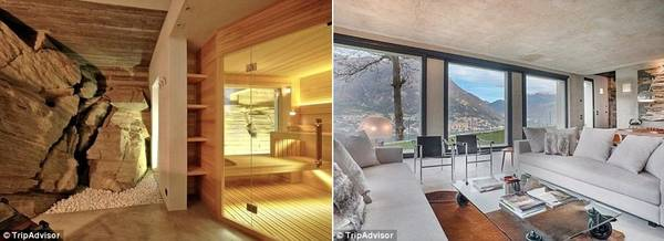 Điểm nhấn của biệt thự gồm phòng xông hơi ốp gỗ rộng rãi, 4 phòng ngủ nhìn ra hồ, với giá thuê 882 bảng (25,5 triệu đồng) một đêm.
