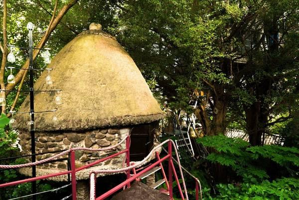 Quần thể Arts Hotel của nghệ sĩ Đào Anh Khánh tọa lạc tại đường Ngọc Thuỵ, Gia Lâm, Hà Nội (qua cầu Chương Dương 2 km), gồm 5 ngôi nhà cây, một nhà thủy cung, ba nhà vườn và một nhà sàn.