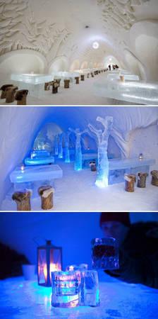 Nhà hàng Lâu đài tuyết Kemi ở Kemi, Phần Lan - Ảnh: BOREDPANDA
