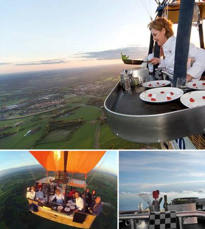 Nhà hàng khí cầu ở Culiair, Hà Lan. Đây là nhà hàng khí cầu duy nhất thế giới hiện nay - Ảnh: BOREDPANDA