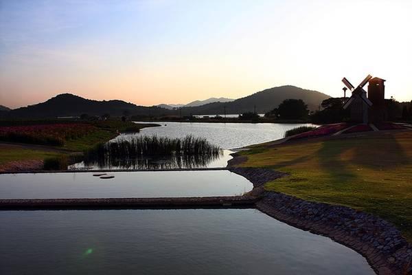 Hồ nước nhân tạo mát rượi mang lại cảm giác bình yên. Silverlake còn là nơi thích hợp để chụp ảnh cưới của nhiều cặp đôi.