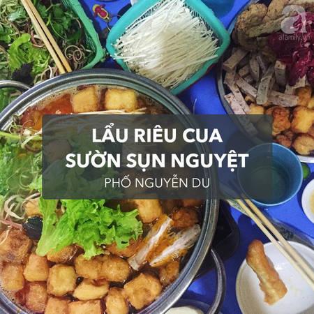 Đây là một trong những quán riêu cua có tiếng nhất ở Hà Nội. Thế nên dù nằm trong ngõ nhưng quán luôn đắt hàng. Đặc trưng của lẩu riêu cua ở đây là nước dùng thanh, vị chua ngọt hài hòa, thịt bò và sườn sụn đầy đặn. Khi lẩu ở đây trung bình mỗi  chỉ tốn khoảng 100 ngàn cho bữa ăn ngon.