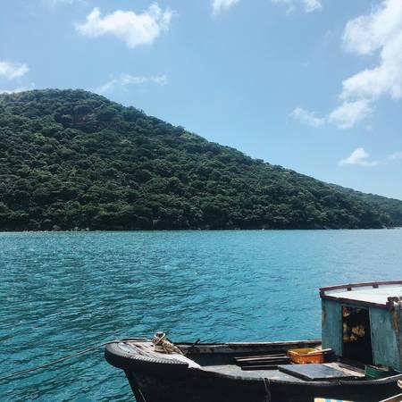 Khung cảnh bình yên trên đảo.