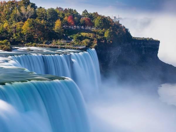 Thác Niagara. Tổ hợp thác này gồm 3 ngọn thác nằm ở biên giới Mỹ và Canada, giữa bang Ontario và New York. Ảnh: Getty.