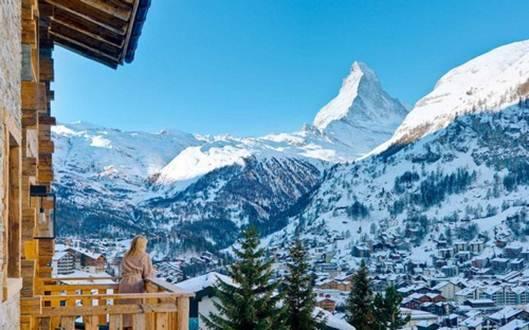 Vẻ đẹp của Zermatt tựa như chốn bồng lai, tiên cảnh.