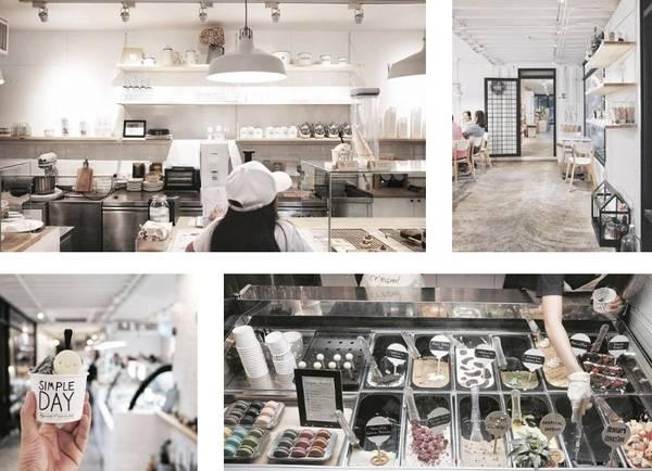 Simple Day Cafe & Ice-cream Shop: Do cùng chủ sở hữu với Think Cafe, Simple Day có chung một phong cách thiết kế. Nếu thế mạnh của Think là các loại bánh mousse và bánh mì nướng, quán này tập trung vào bữa sáng và kem.