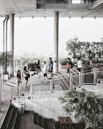 The Commons Complex: The Commons thiên về một tổ hợp các hàng quán cà phê - nhà hàng hipster hơn là một trung tâm mua sắm thông thường. 28 cửa hàng trong khu tổ hợp đã cùng nhau tạo một cộng đồng thu nhỏ, tôn vinh những nét giá trị độc đáo của nghệ thuật sáng tạo.