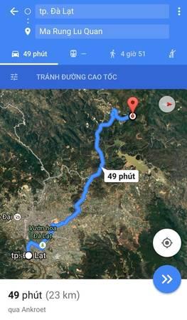 Các bạn có thể đi theo chỉ dẫn của Google Maps. Khoảng 20 km đầu, đường khá dễ đi. Đường chỉ thật sự khó khăn ở khoảng 3 km cuối vì chỉ toàn đá và dốc.