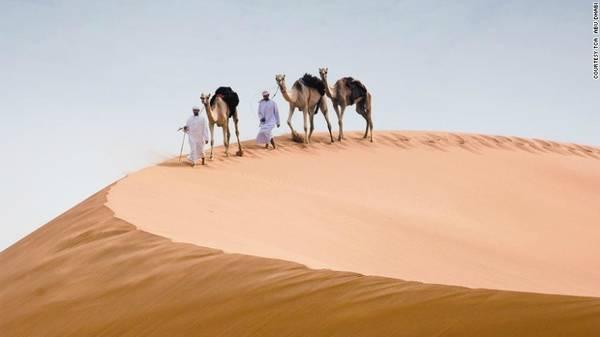 6. Sa mạc: Ở Abu Dhabi, sa mạc chỉ cách thành phố một quãng đường ngắn. Du khách có thể tham gia các tour tham quan trên lưng lạc đà, hoặc lái xe địa hình vượt những cồn cát đỏ khổng lồ.
