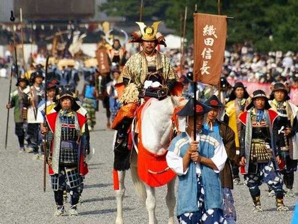 Lễ diễu hành tái hiện lịch sử của lễ hội Jidai.