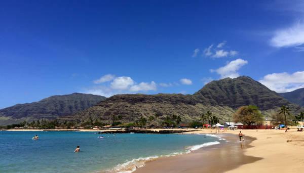 Xanh thẳm bờ tây Oahu - Ảnh: Thủy Ong