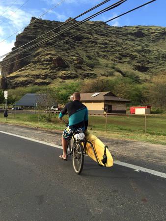Dừng lại nơi ấy, bờ tây Oahu - Ảnh: Thủy Ong