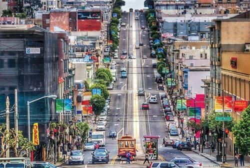 Những con đường dốc nổi tiếng ở San Francisco