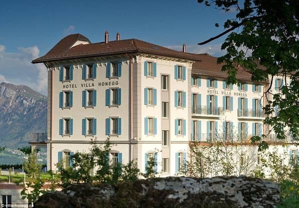 Khách sạn Hotel Villa Honegg được xây dựng năm 1905, tọa lạc trên núi Bürgenstock thuộc dãy Alpes, Ennetburgen, Thụy Sĩ. Ảnh:Villa Honegg.