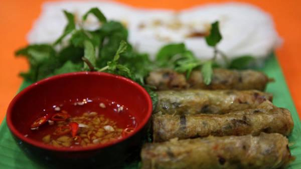 Bánh mướt ram - món ngon Hà Tĩnh - Ảnh: Thủy OCG