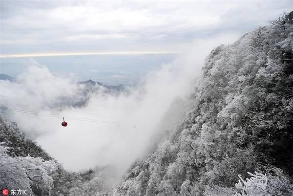 Một tuyến cáp treo được xây dựng bởi công ty của Pháp gần ga xe lửa Trương Gia Giới để đến đỉnh núi. Cáp treo này có 98 cabin và tổng chiều dài lên tới 7.455 m, độ cao của ga trên của tuyến cáp treo là 1.279 m.