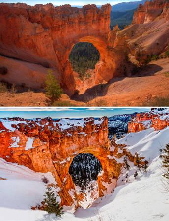 Cầu tự nhiên Bryce Canyo ở Utah, Mỹ
