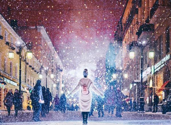 Để mang đến những bức hình đẹp nhất về Moscow vào mùa đông, với băng và tuyết, nữ nhiếp ảnh gia đã đi khắp thủ đô để chụp ảnh.