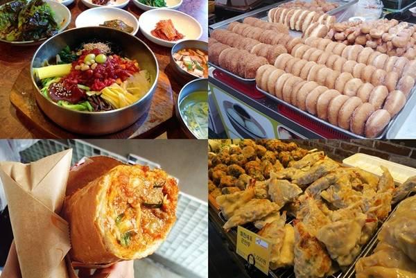 Jeonju được UNESCO bầu chọn là thành phố sáng tạo trên lĩnh vực nghệ thuật ẩm thực của Hàn Quốc. Điều níu chân khách du lịch chính là những món ăn ngon với vị Hàn đặc trưng. Ở đây nổi tiếng với món cơm trộn được cho là ngon nhất Hàn Quốc, đặc biệt là cơm trộn thịt bò sống béo ngậy, không tanh. Nếu có dịp, bạn nên ghé Gajeok Hwaegwan - tiệm cơm trộn nổi tiếng ở Jeonju để thưởng thức món này.