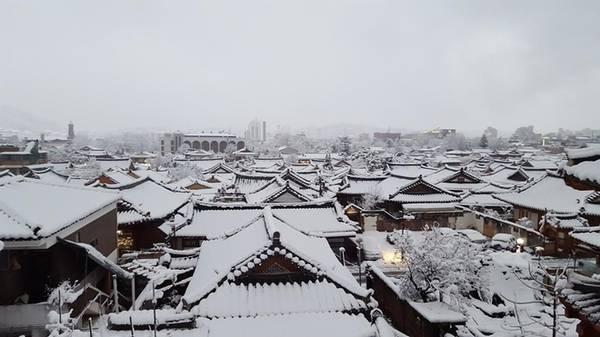 Mỗi mùa ở Jeonju mang một nét đẹp riêng. Mùa xuân rực rỡ với hoa anh đào. Mùa hè tươi mát với những hàng cây xanh rì cùng nhiều loại trái cây ngon lành. Mùa thu lãng mạn với đồi lá phong đỏ, hàng cây ngân hạnh vàng. Mùa đông lại lặng lẽ, mái nhà phủ một lớp tuyết trắng tuyệt đẹp.