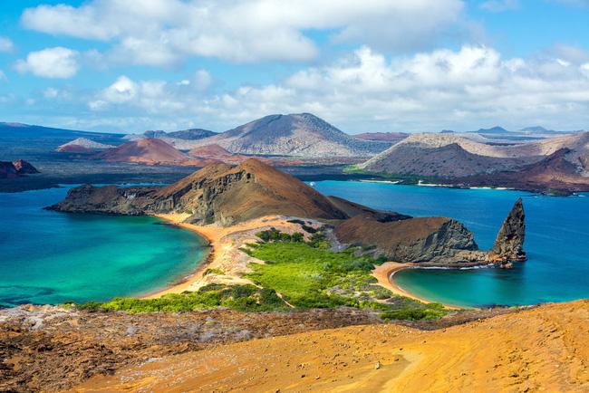 Đảo Bartomole trong quần đảo Galapagos của Ecuador's. Các loài đặc hữu trên quần đảo núi lửa này được cho là đã tạo cảm hứng cho Thuyết tiến hóa của Charles Darwin.