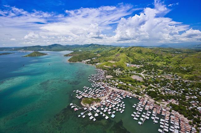 Thủ đô Port Moresby tuyệt đẹp nhìn từ trên cao.