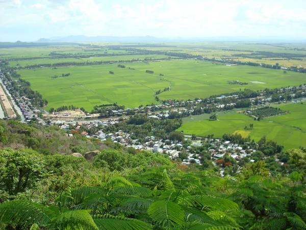 Toàn cảnh Châu Đốc nhìn từ Núi Sam. Ảnh: mapio.net