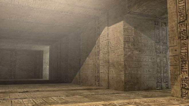 Nằm cách mặt đất hơn 30 m trong tự tháp Kheops, căn phòng dưới đất này vẫn còn là ẩn số với các nhà khảo cổ. Nhiều giả định cho rằng căn phòng này có thể liên quan đến tín ngưỡng cổ đại. Ảnh: mik38.