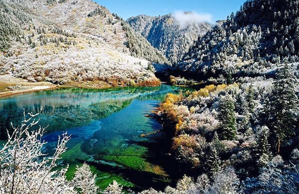 Hồ Ngũ Hoa quyến rũ vào đông. Ảnh: The Star.
