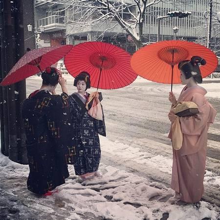 Những nàng geisha lộng lẫy với nước da trắng như tuyết